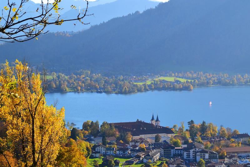 Das Kloster am Tegernsee von oben gesehen