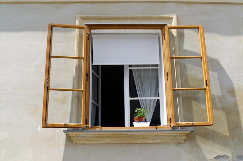 Offenes Fenster in Graz