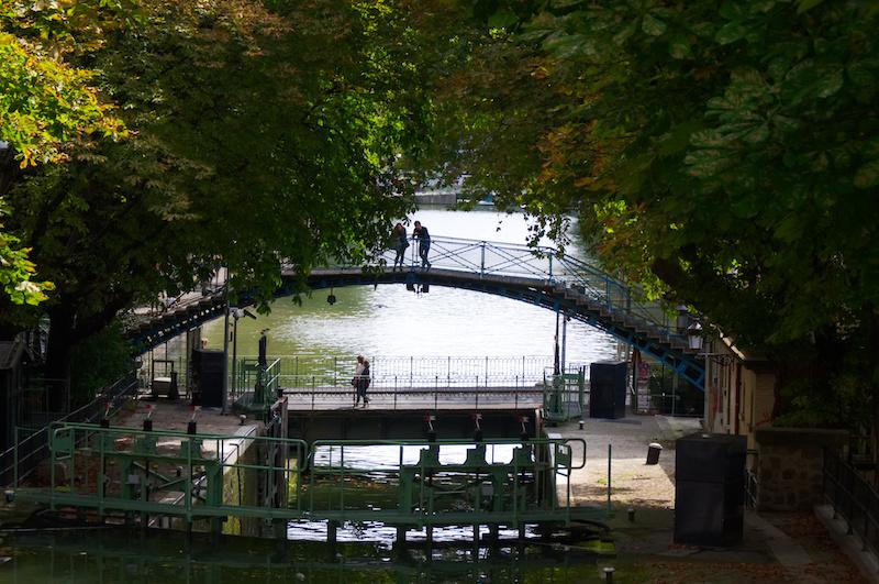 Brücke über den Canal St. Marin in Paris
