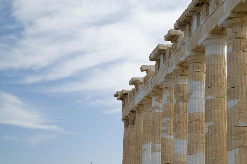 Die Säulen des Parthenon