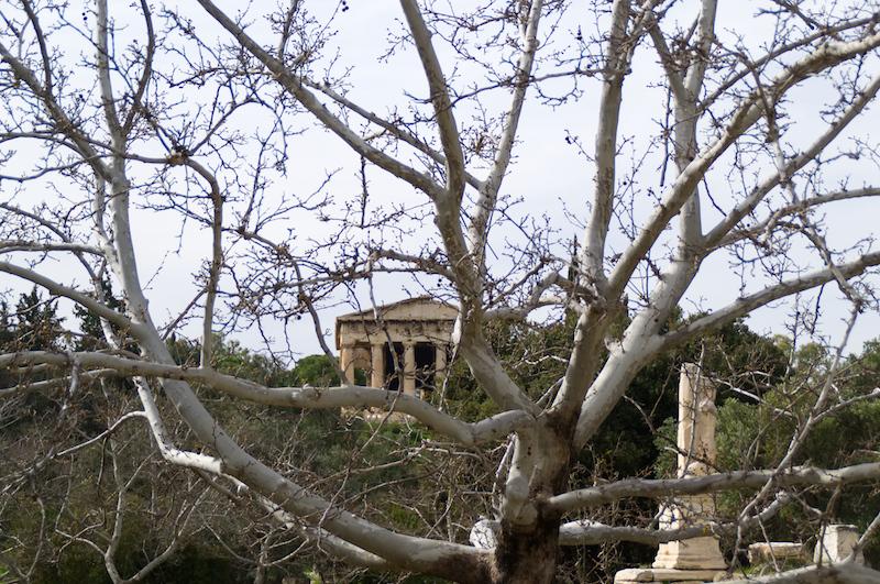 Tempel auf der Agora von Athen