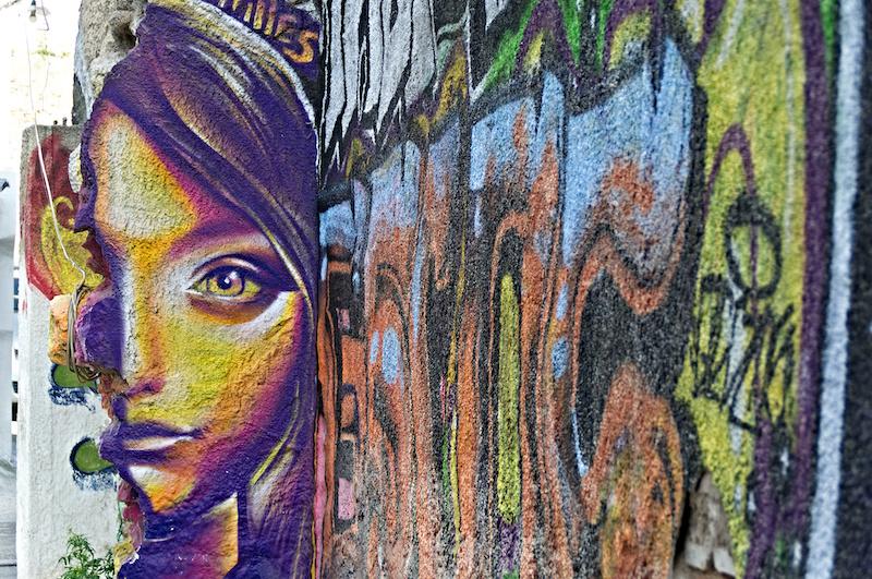 Bunte Streetart in Athen