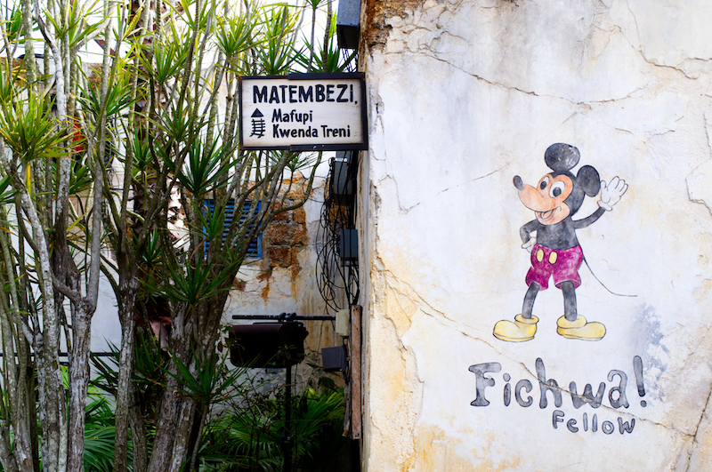 Micky Maus Wandbemalung in Afrika