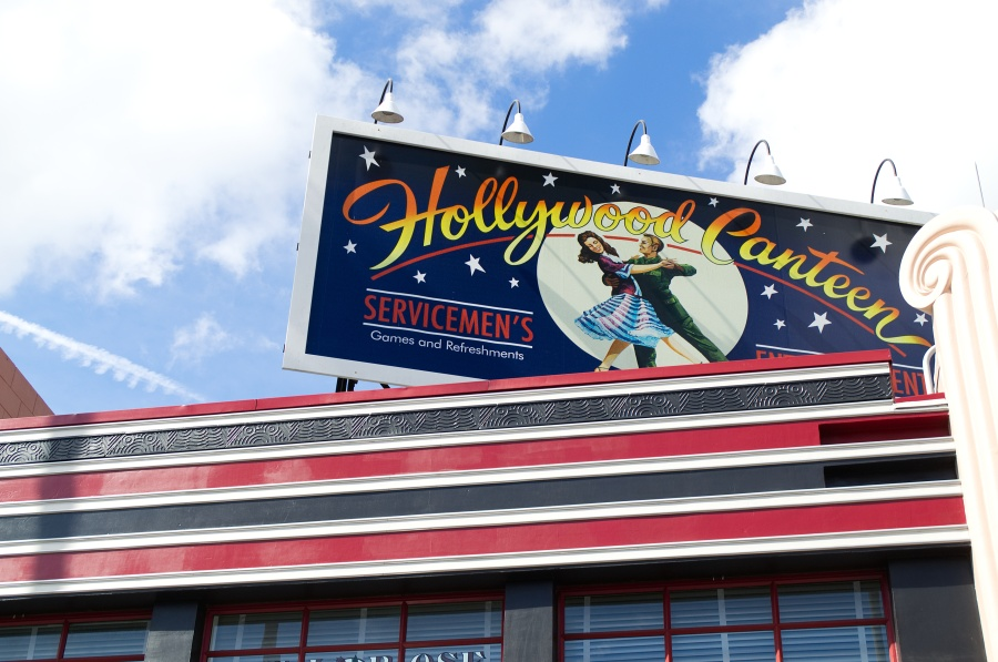 Hollywood Canteen Werbetafel in den Studios in Walt Disney World