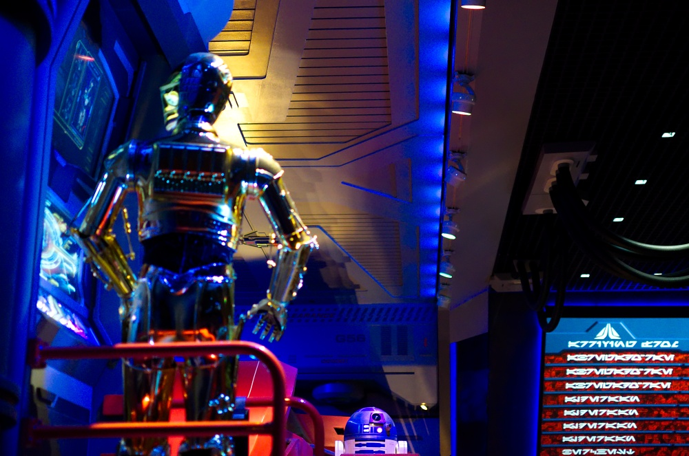C3-PO und R2-D2 in Star Tours in Disney's Hollywood Studios