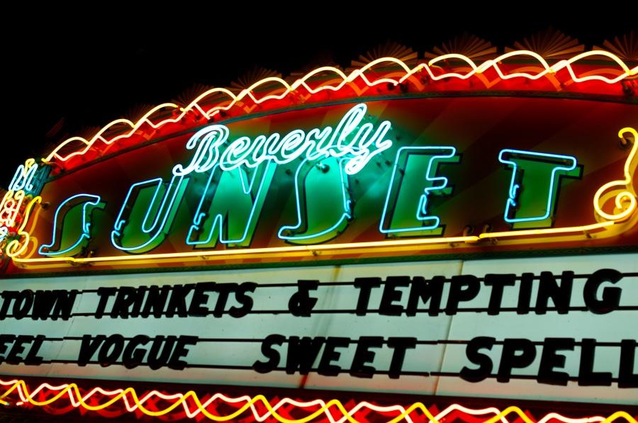 Neon-Schild Beverly Sunset