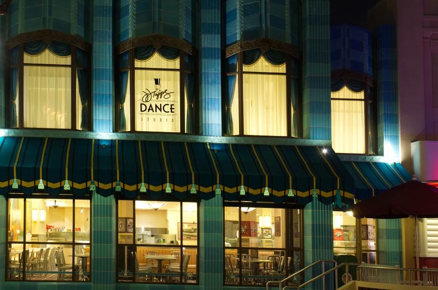 Leeres Restaurant in Disney's Hollywood Studios spät am Abend
