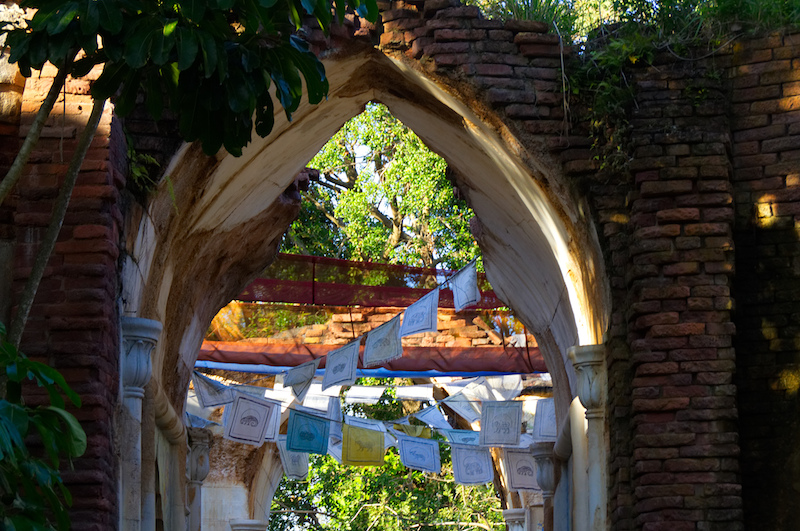Flaggen im alten Palast der Maharadschas in Disney's Animal Kingdom