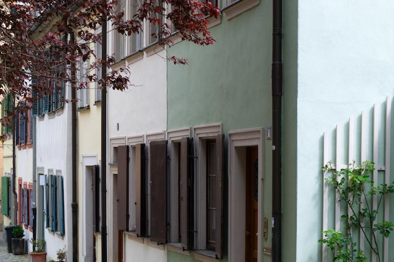 Mittelalterliche Häuserreihe in Bamberg