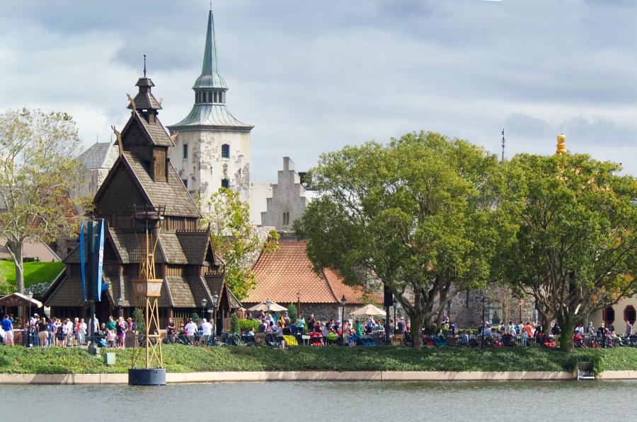 Norwegen in Epcot mit Stabkirche