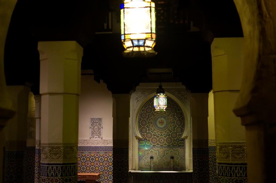 Wunderschöne Wandmosaike im marokkanischen Pavilion