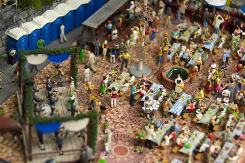 Biergarten im Miniaturwunderland