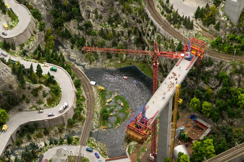 Blick runter auf die Schweiz im Miniaturwunderland