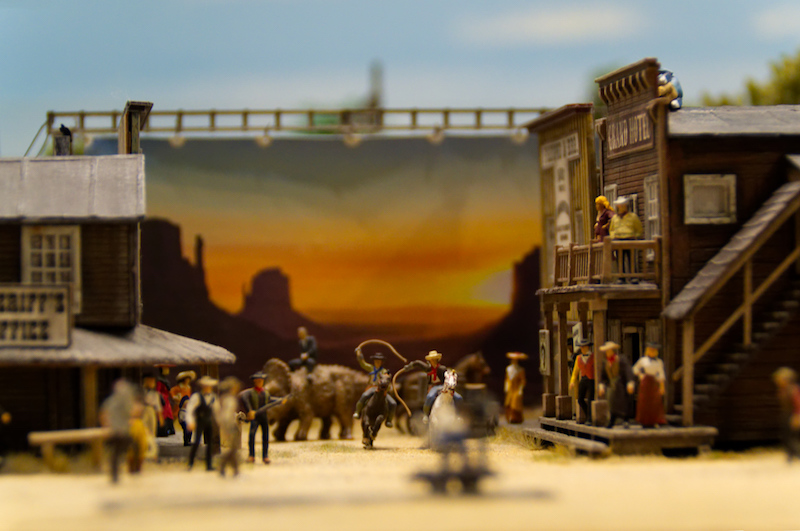 Wild-West-Filmset im Miniaturwunderland