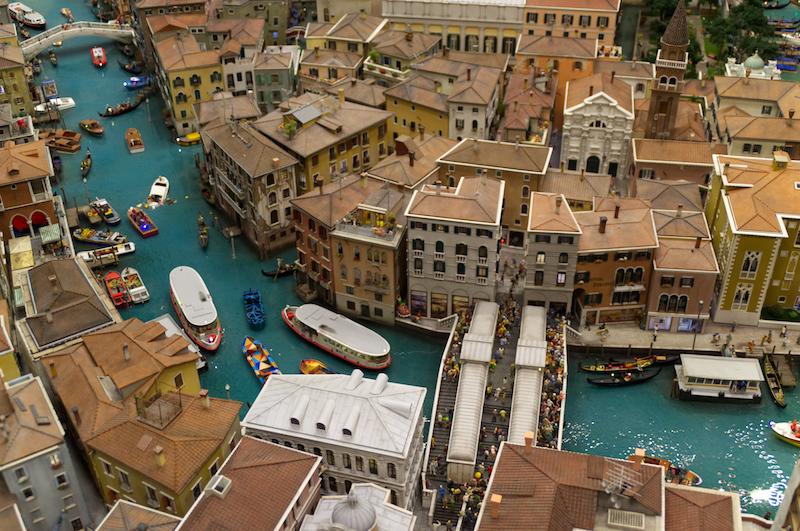 Die Kanäle und Gassen von Venedig im Miniaturwunderland