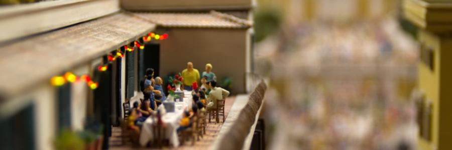 Eine Szene in Rom im Miniaturwunderland