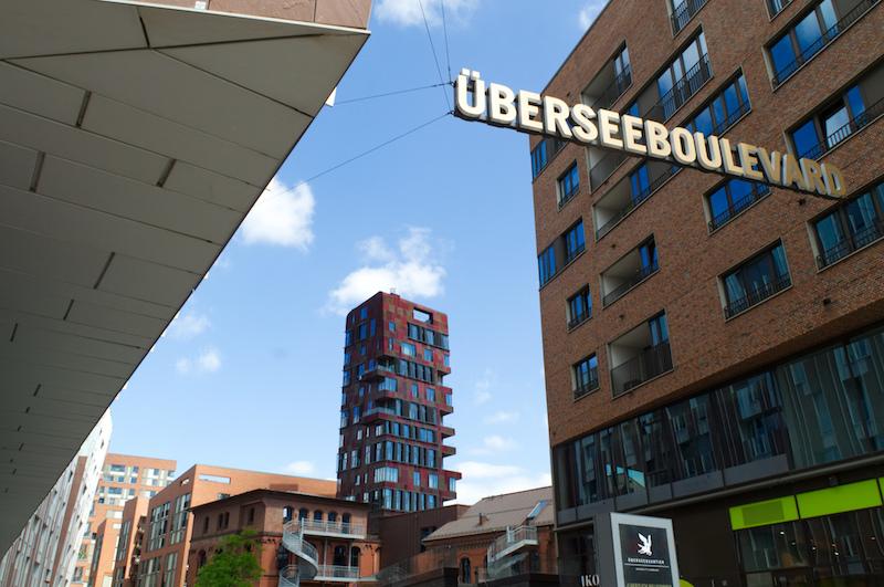 Überseeboulevard in Hamburg