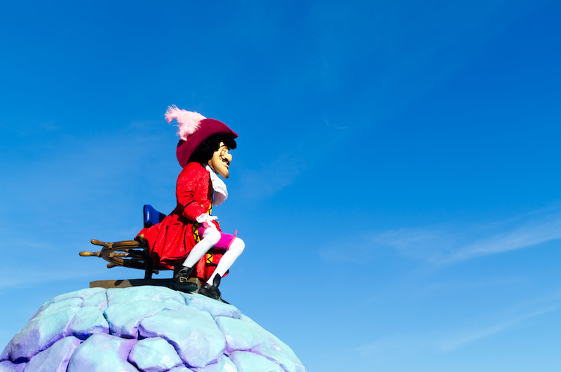 Captain Hook bei der Disney Parade