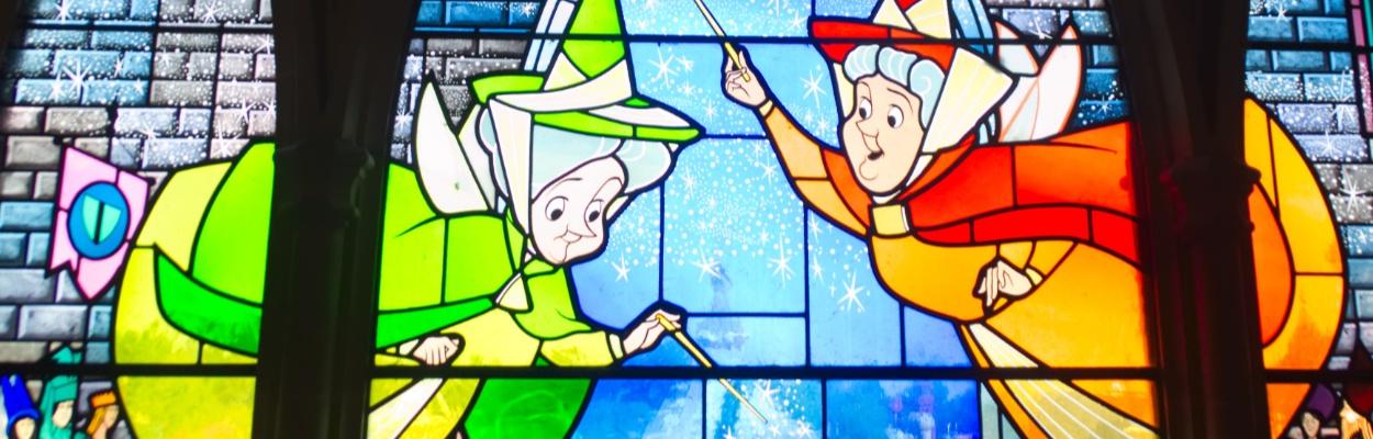 Glaskunst im Dornröschenschloss in Disneyland Paris