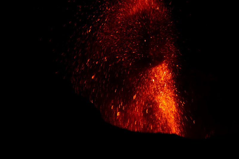 Feuer und Nacht auf dem Stromboli