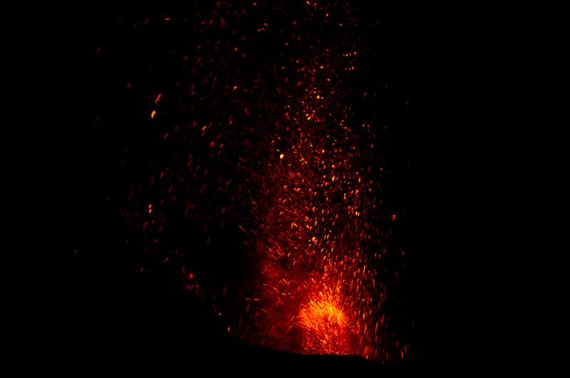 Feuerfontäne auf dem Stromboli