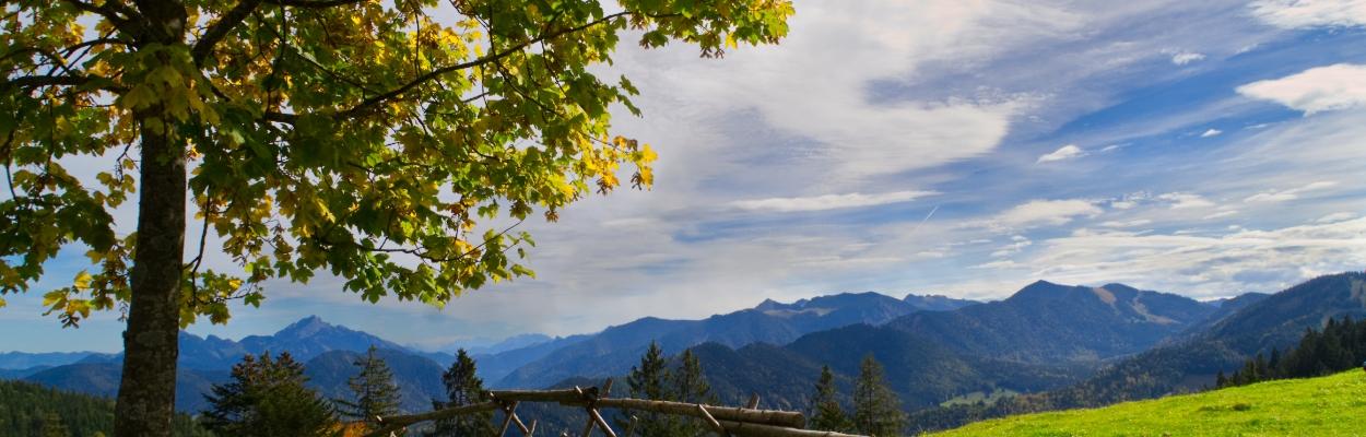 Panorama an der Gindelalm