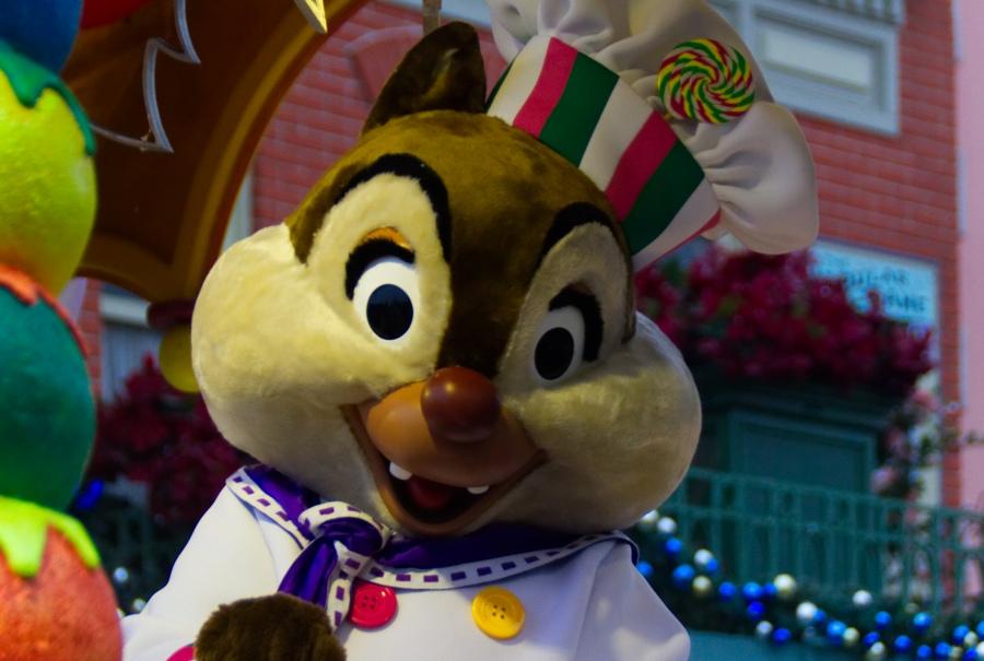 Chip in Disney's Weihnachtsparade