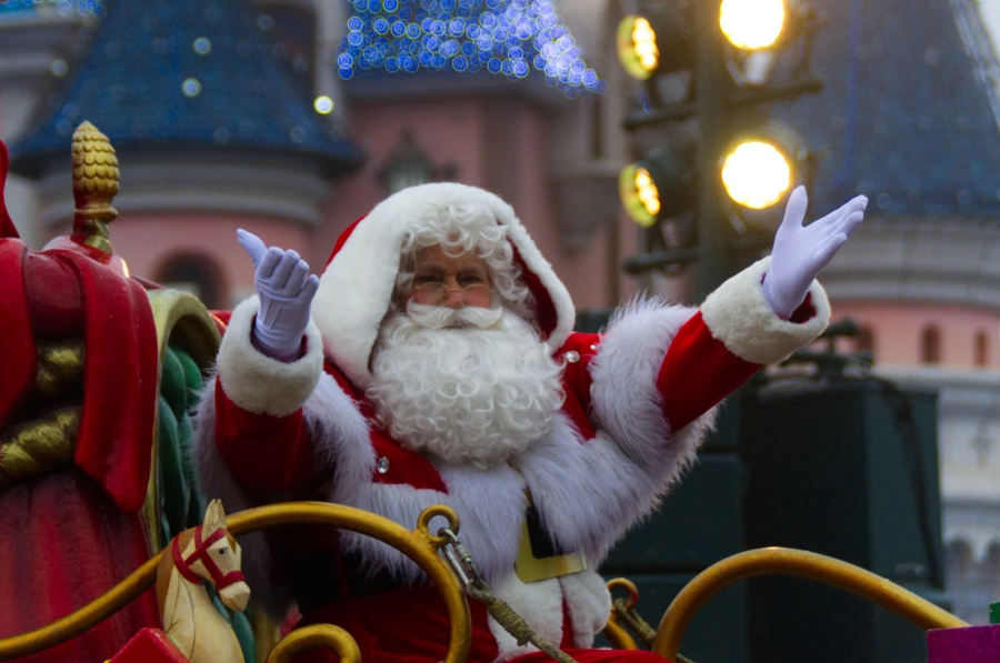 Santa Claus in Disneyland Paris