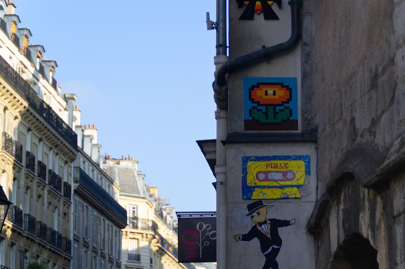 Pixel-Art im Marais von Paris