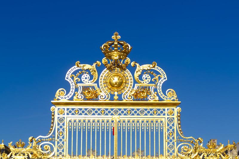 Das Goldene Tor zum Palast von Versailles