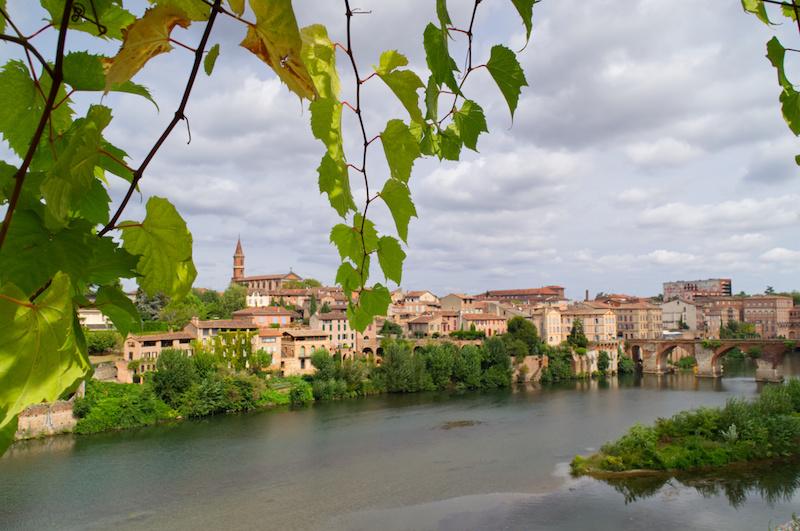 Blick auf die andere Flussseite von Albi