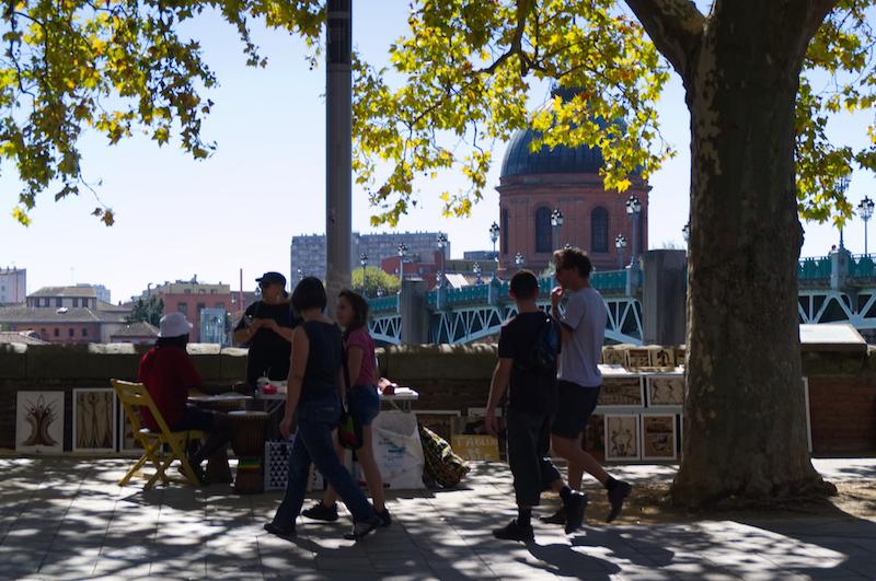 Kunstmarkt an der Garonne