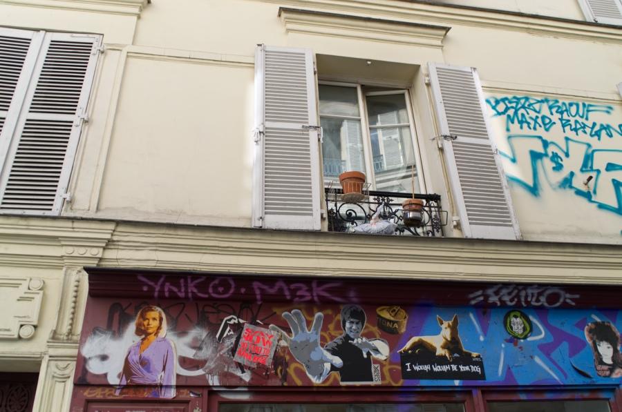 Fenster und Streetart