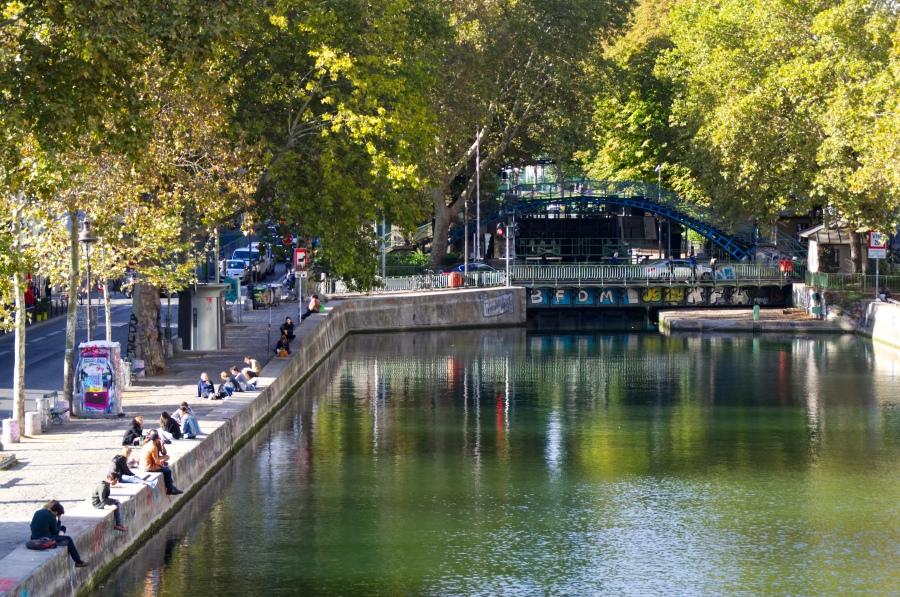 Der Canal Saint Martin in Paris