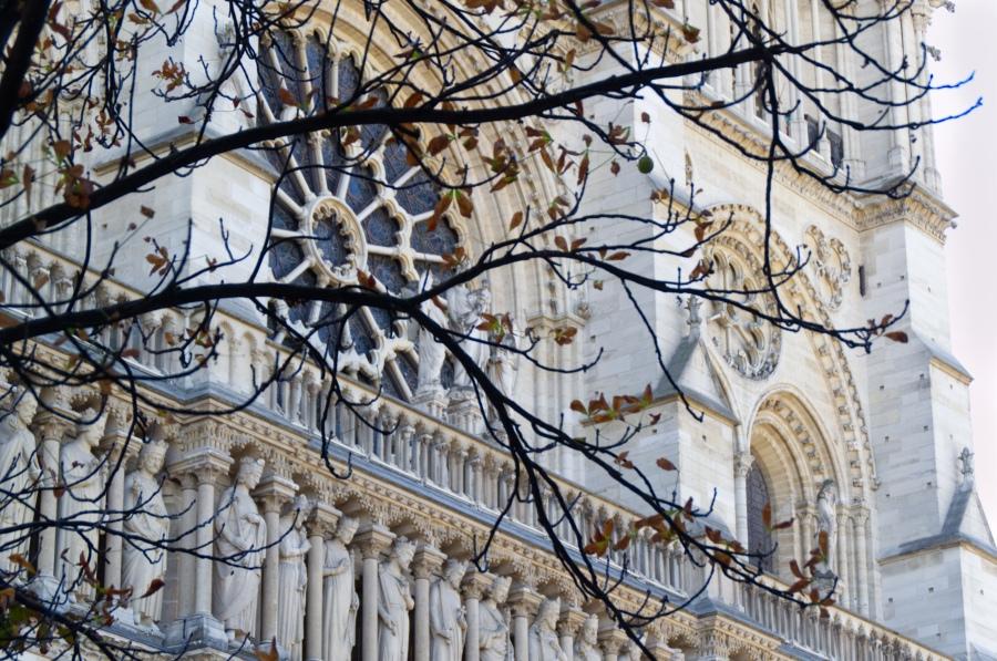 Die Fassade von Notre Dame