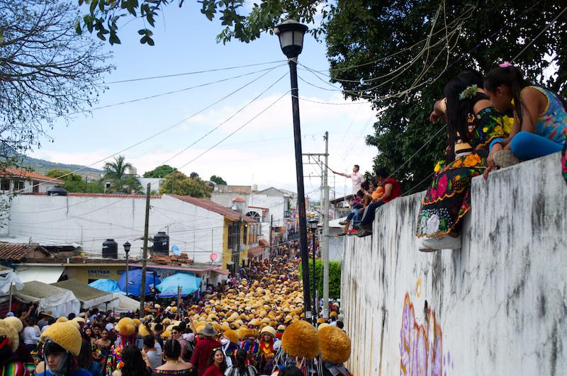 Zuschauer bei der Gran Fiesta in Chiapa de Corzo