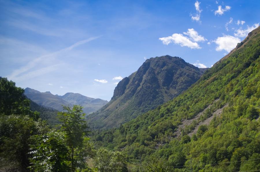 Berge in den Pyrenäen