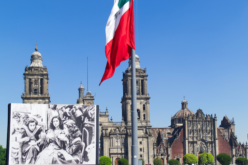 Der Zocalo in Mexico City mit Kathedrale