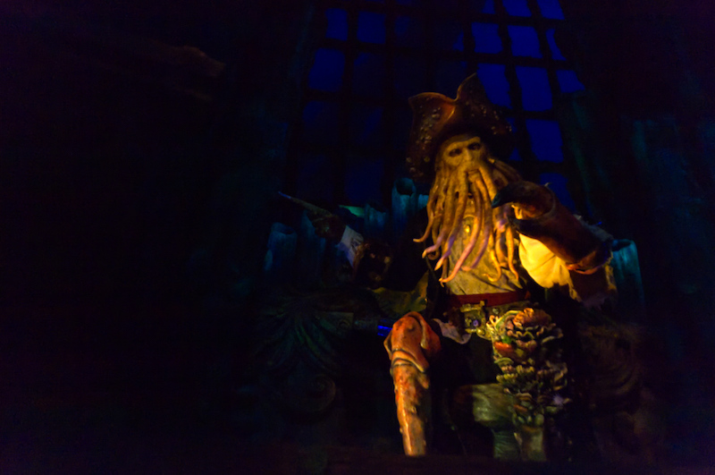 Davy Jones persönlich in Pirates of the Caribbean: Battle for the Sunken Treasure