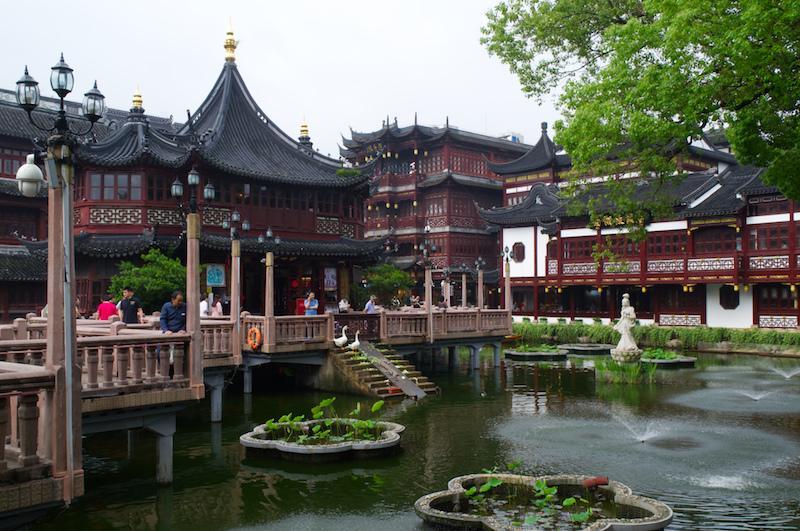 Das Teehaus an den Yuyuan Gärten