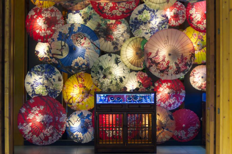Schirme in einem Geschäft