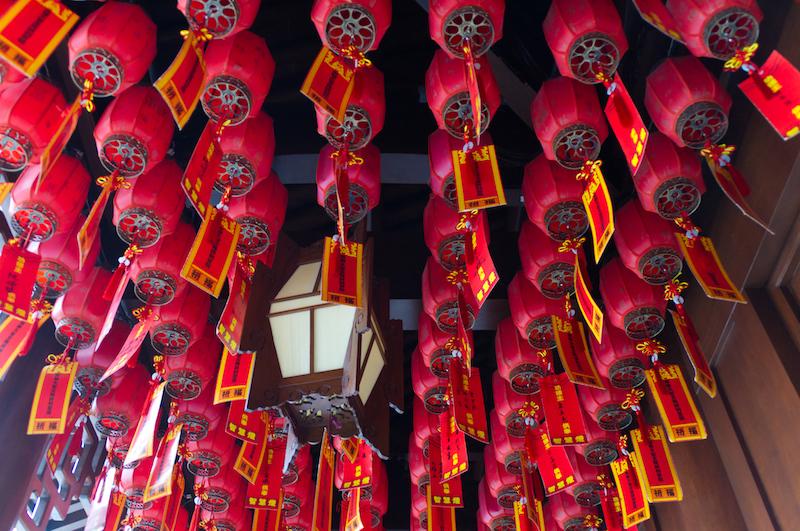 Laternen im Jade Buddha Tempel