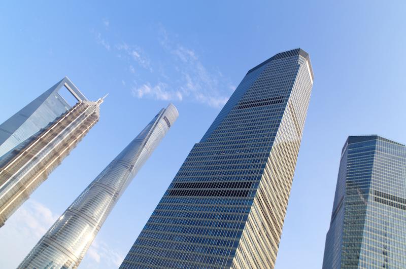 Die Hochhäuser von Pudong