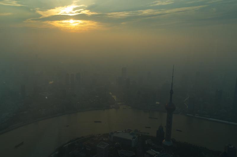 Dämmerung vom Shanghai Tower aus