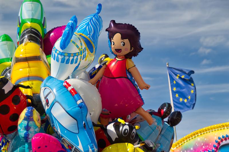 Luftballons mit Heidi