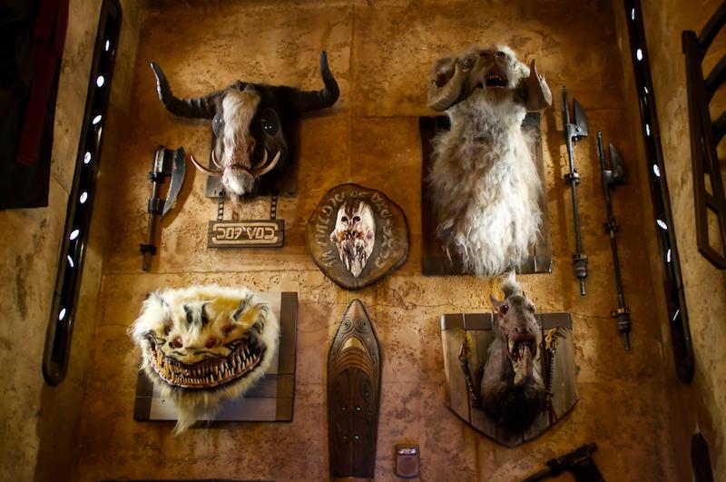 Wilde Tiere an der Wand