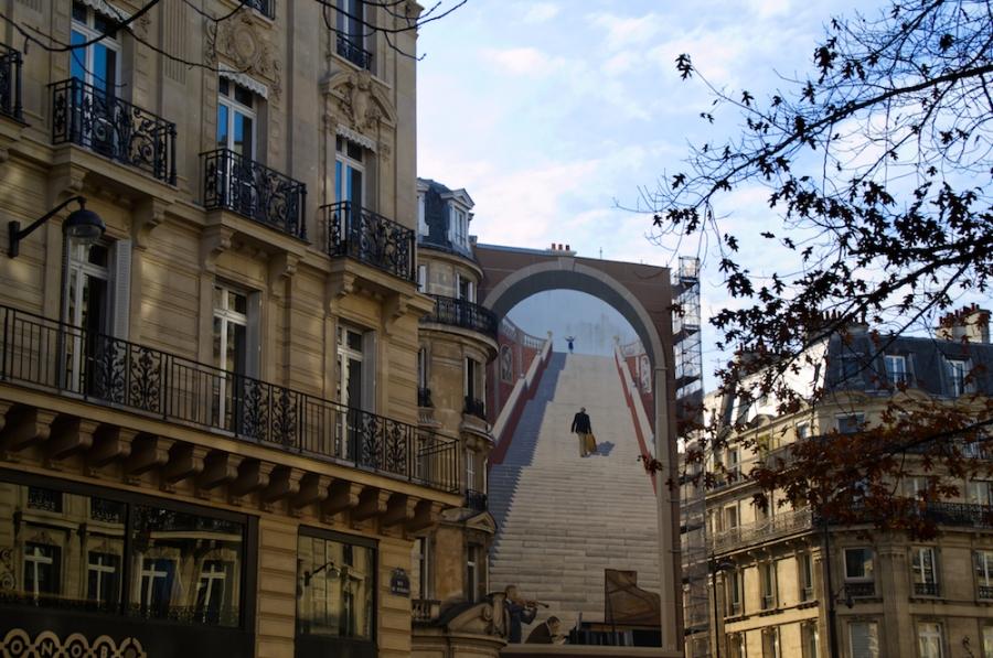 Treppen-Streetart