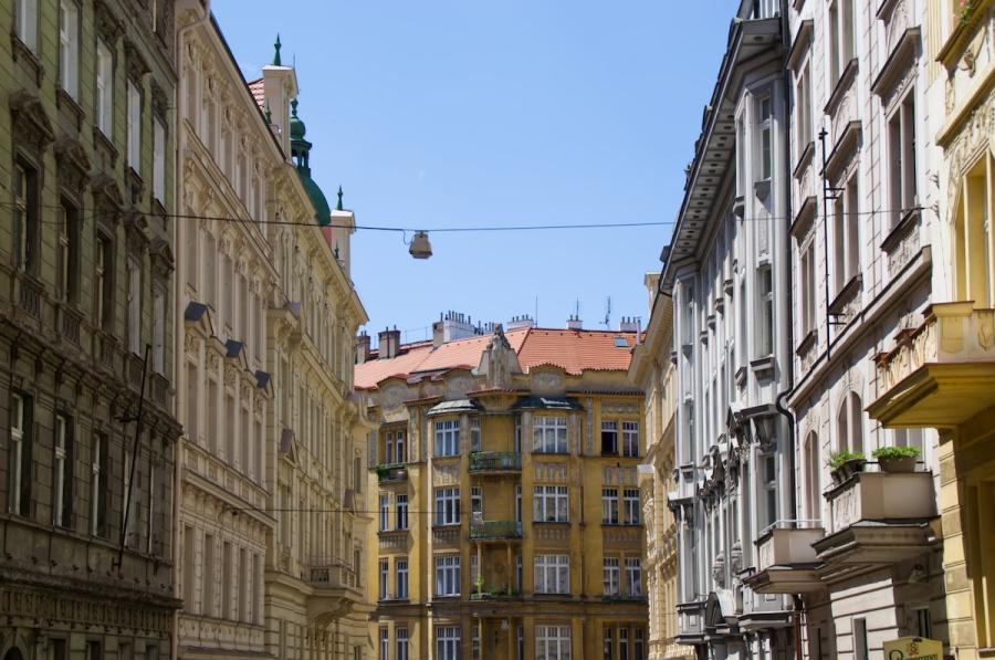 Jugendstil-Fassaden in Prag