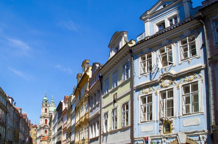 Bunte Häusserfassaden in der Prager Kleinseite