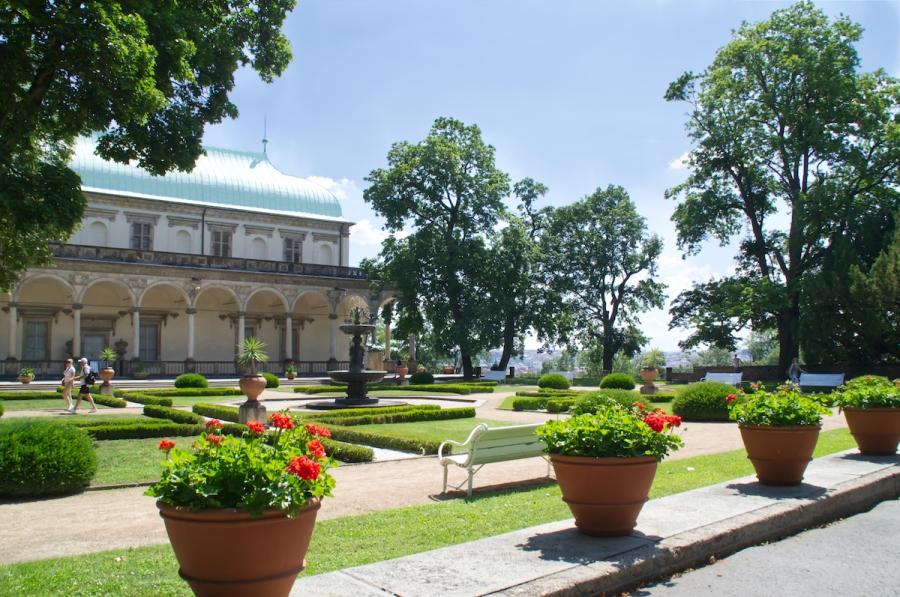In den Königlichen Gärten der Prager Burg